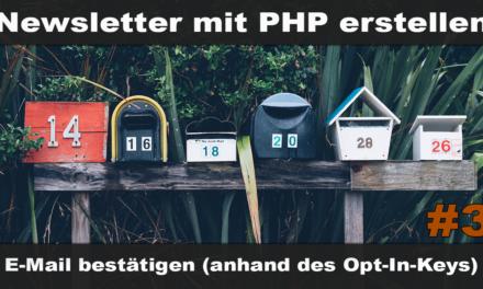 Einfachen Newsletter erstellen mit PHP #3